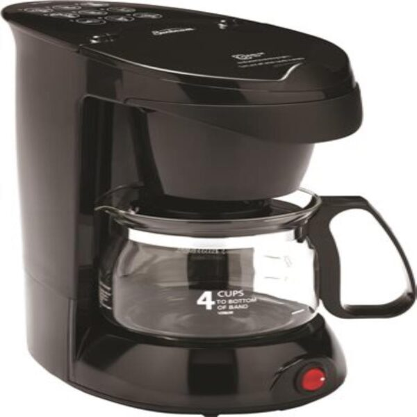 4 Cup Coffee Maker With 1 Hr Auto Shut Off 6-Cs